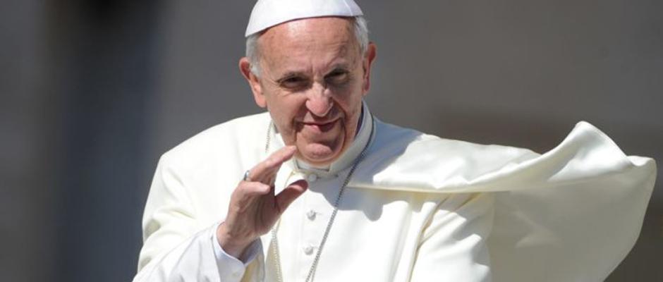 Pape François, d'après une photo d'Eric Vandeville