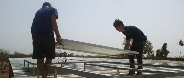 panneaux solaires au Burkina